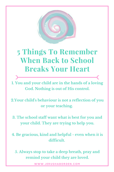 5 Things To Remember When Back to School Breaks Your Heart